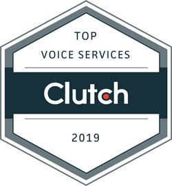 VoiceNation receiving Clutch Award for Top Voice Services