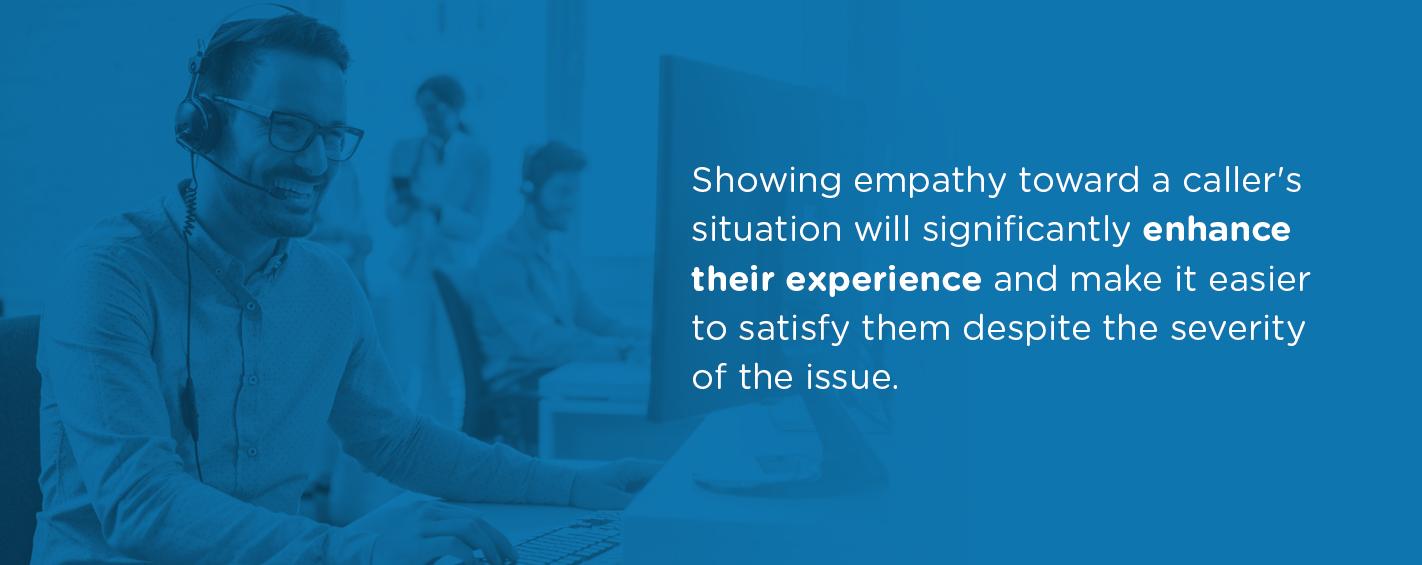 Show Empathy Towards A Caller's Situation