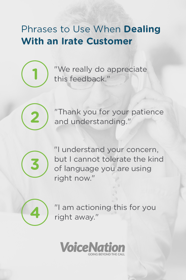 Phases To Use When Dealing With An Irate Customer