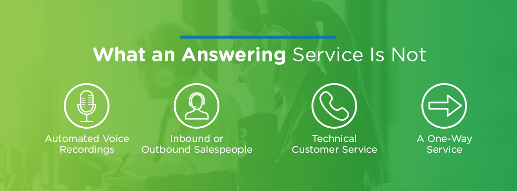 What An Answering Service Is Not