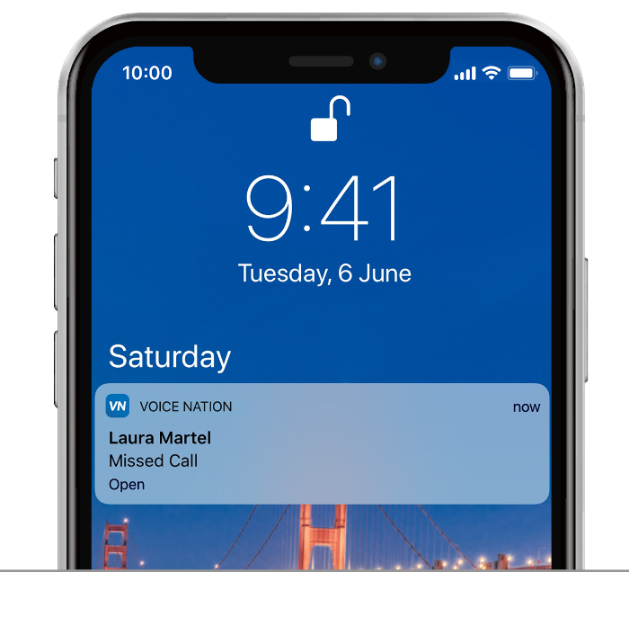 VoiceNation App Push notifications